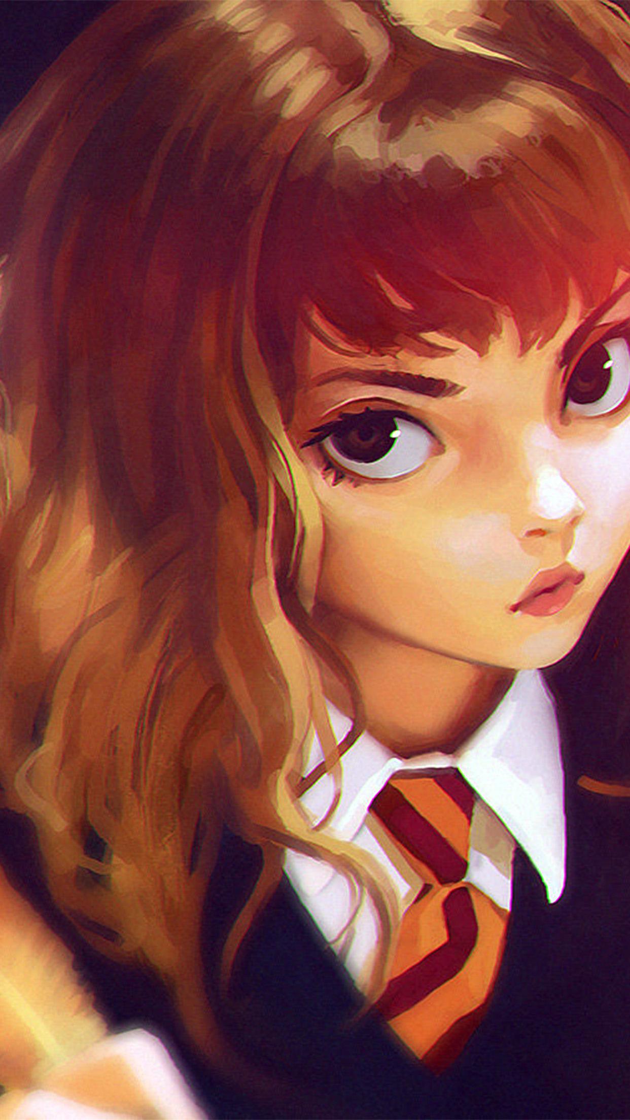 Bd66 Hermione Harry Potter Liya Art Illustration Flare Wallpaper