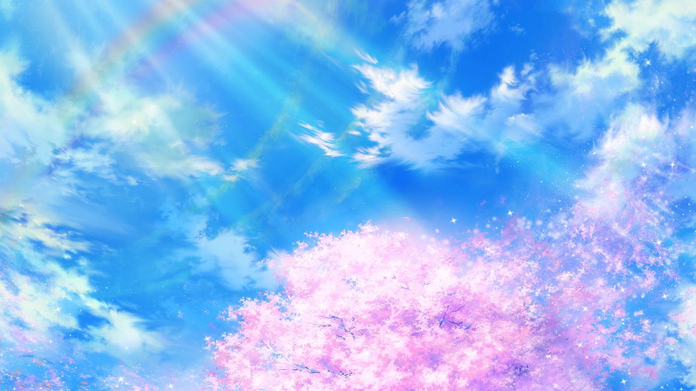 Wallpaper For Desktop Laptop Bd75 Anime Sky Cloud Spring Art