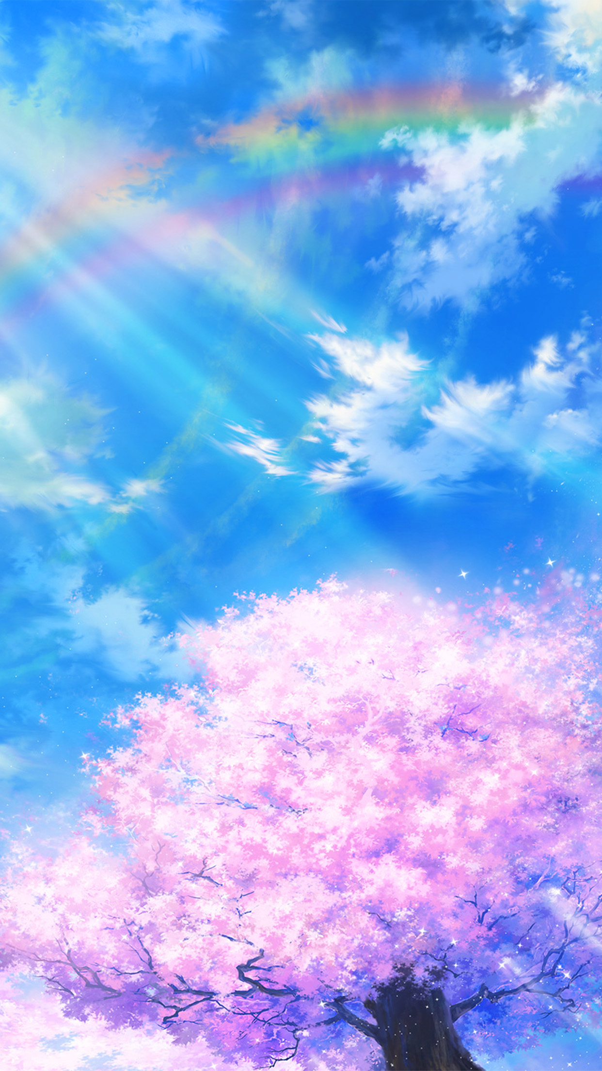 Bd75-anime-sky-cloud-spring-art-illustration-wallpaper