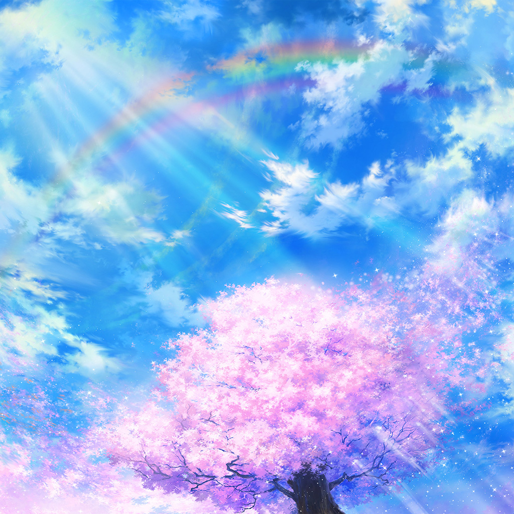 wallpaper-bd75-anime-sky-cloud-spring-art-illustration-wallpaper