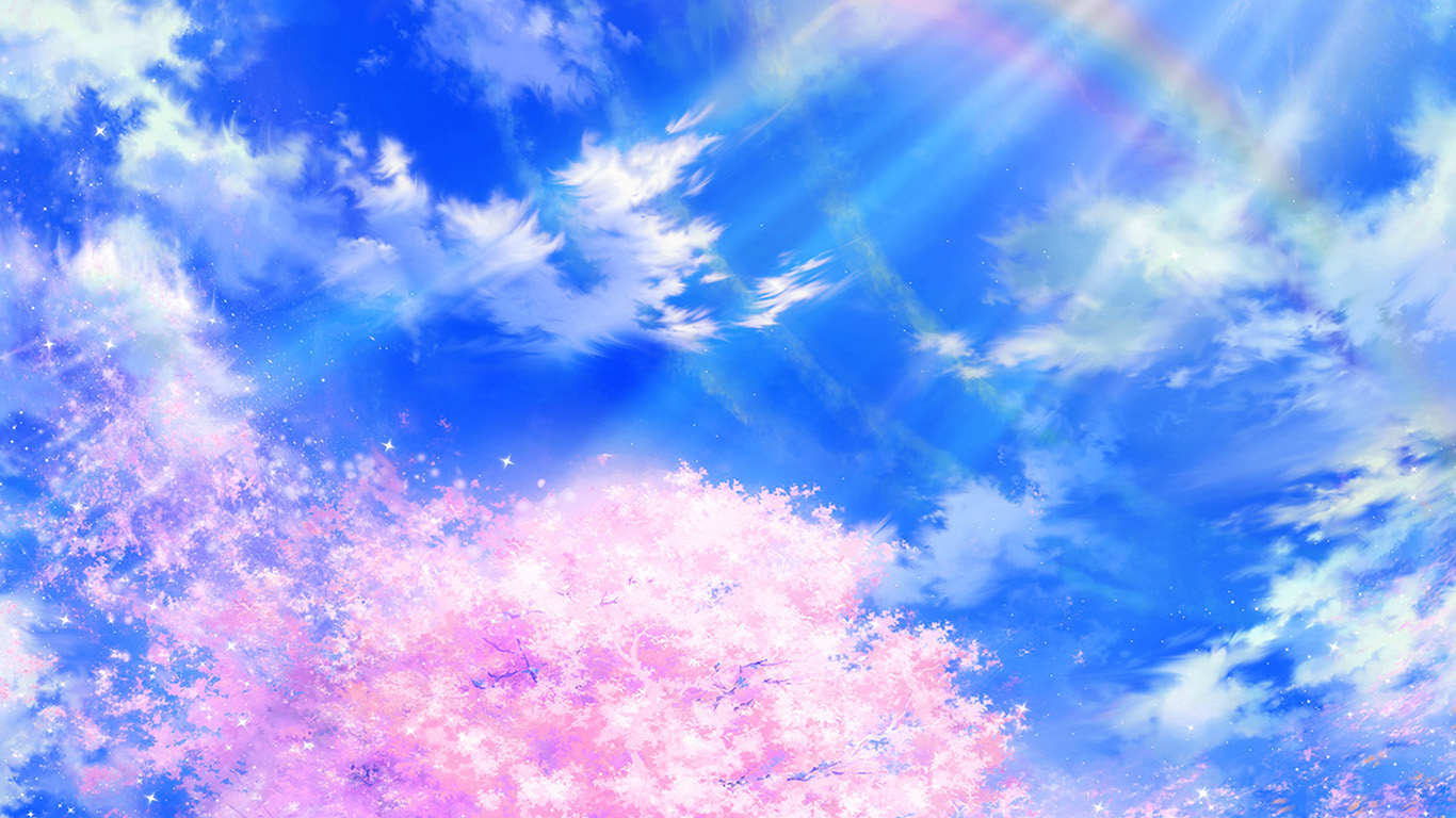 Wallpaper For Desktop Laptop Bd76 Anime Sky Cloud Spring