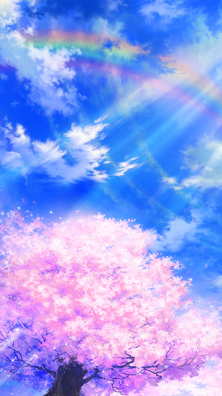 Papers.co-iPhone5-iphone6-plus-wallpaper-bd76-anime-sky-cloud-spring-art-illustration-blue