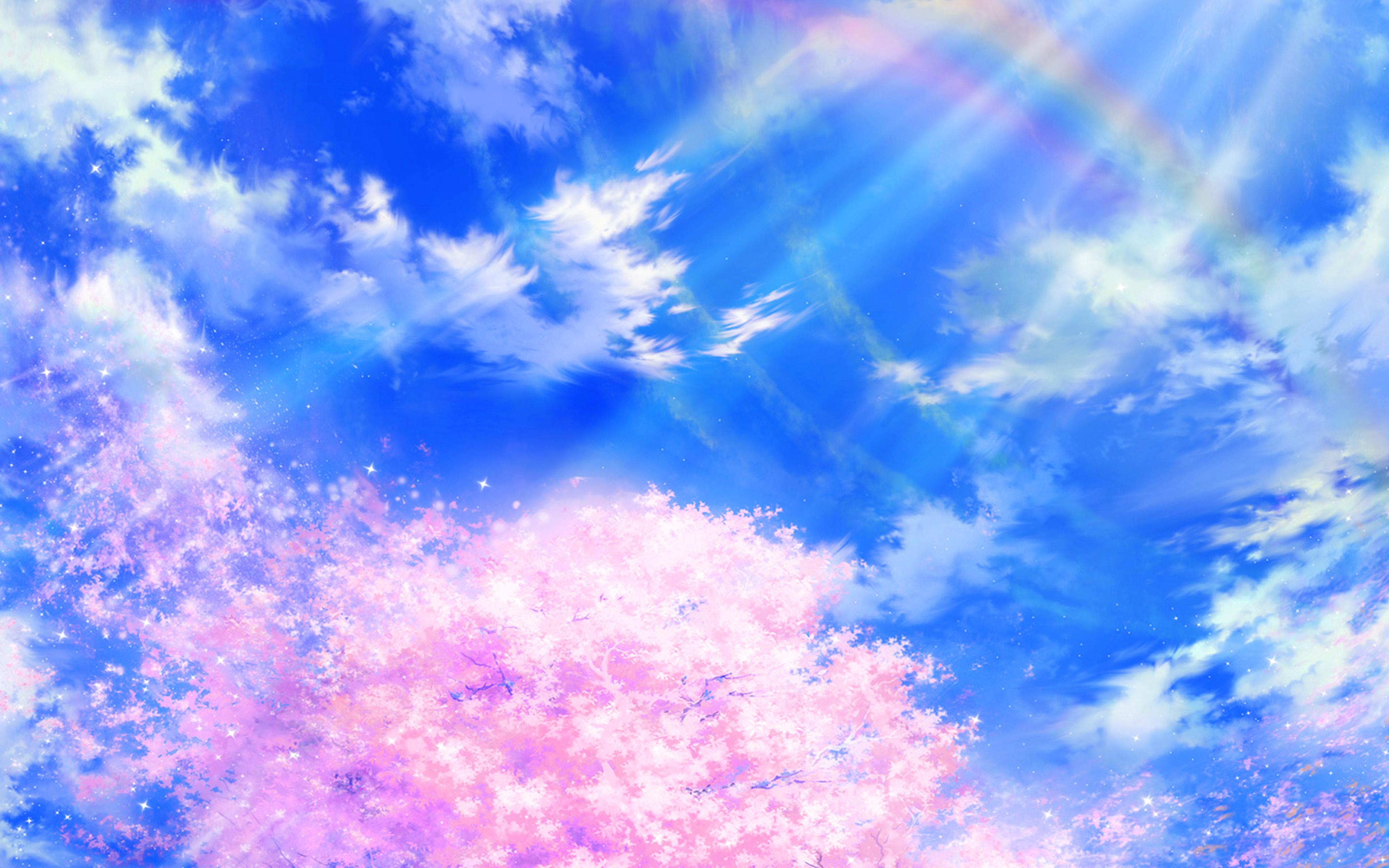Papers Co Desktop Wallpaper Bd76 Anime Sky Cloud Spring
