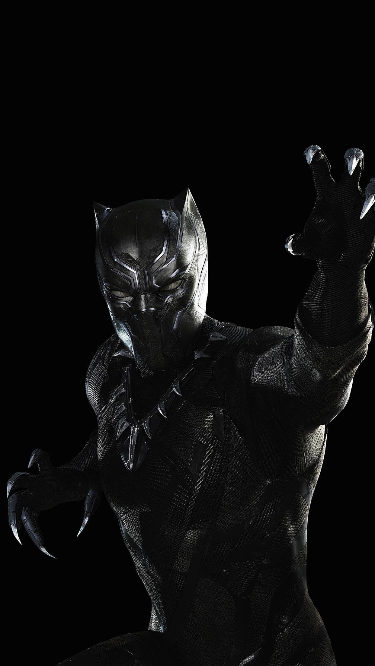 Papers Co Iphone Wallpaper Bd89 Black Panther Marvel Hero Art Illustration Dark