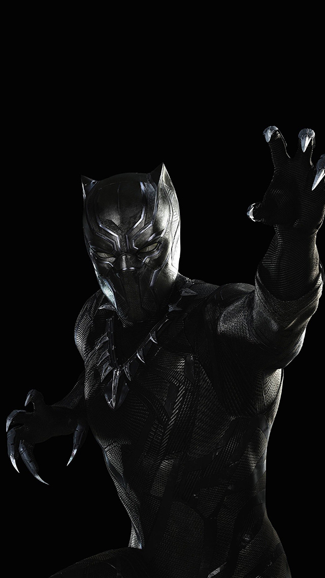freeios8.com-iphone-4-5-6-plus-ipad-ios8-bd89-black-panther-marvel-hero-art-illustration-dark