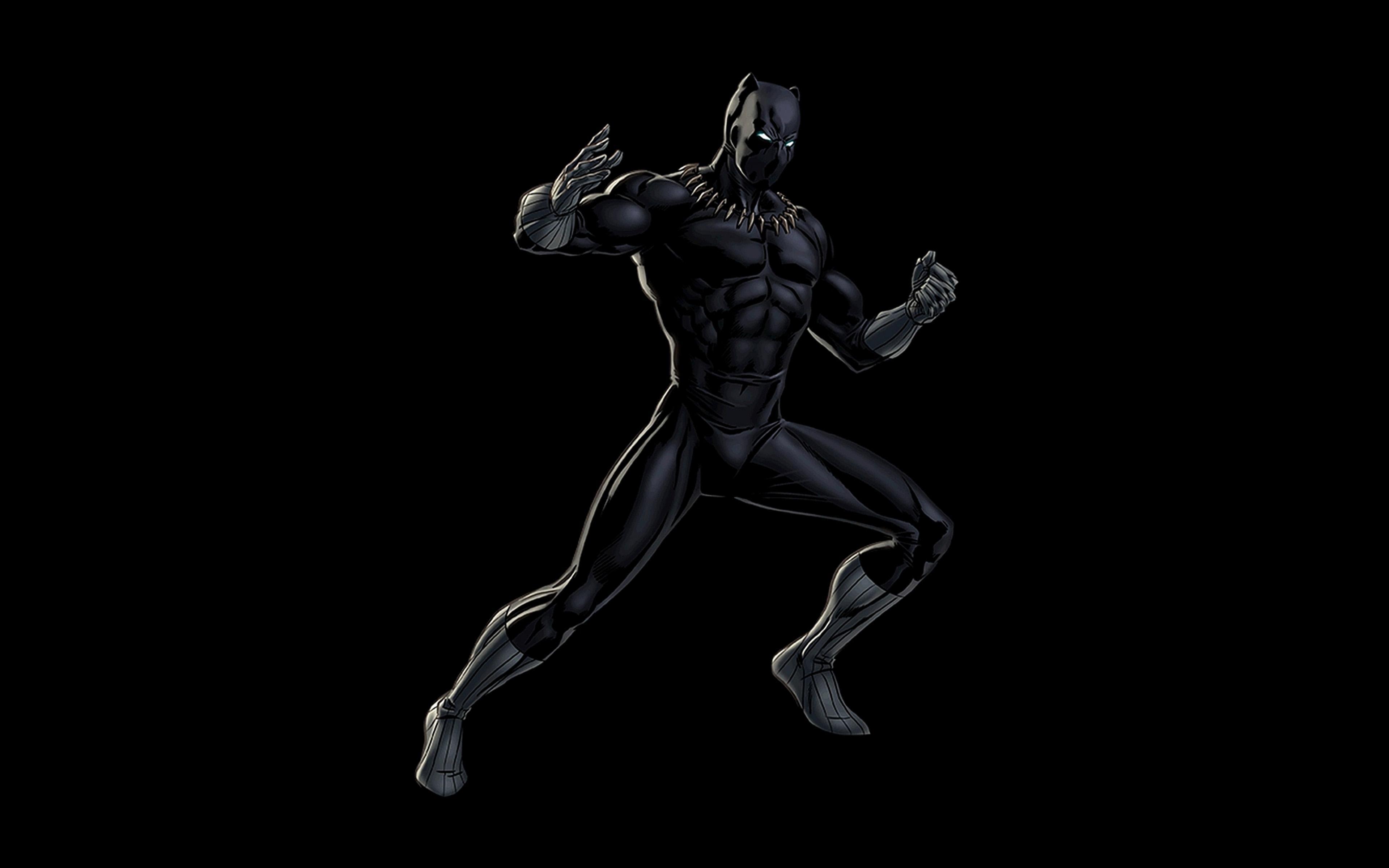 Bd91 Hero Marvel Blackpanther Dark Art Illustration Wallpaper