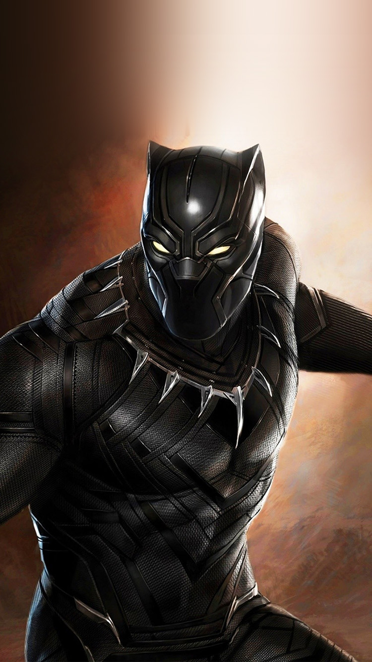 Papers.co-iPhone5-iphone6-plus-wallpaper-bd99-blackpanther-hero-marvel-art-illustration