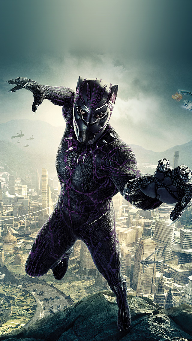 freeios8.com-iphone-4-5-6-plus-ipad-ios8-be00-marvel-film-hero-blackpanther-art-illustration