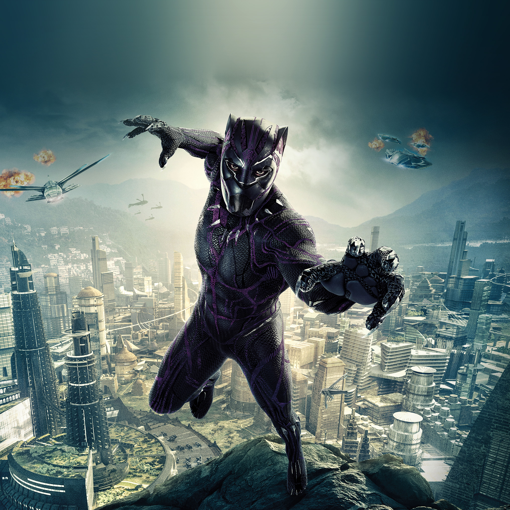 Be00-marvel-film-hero-blackpanther-art-illustration-wallpaper