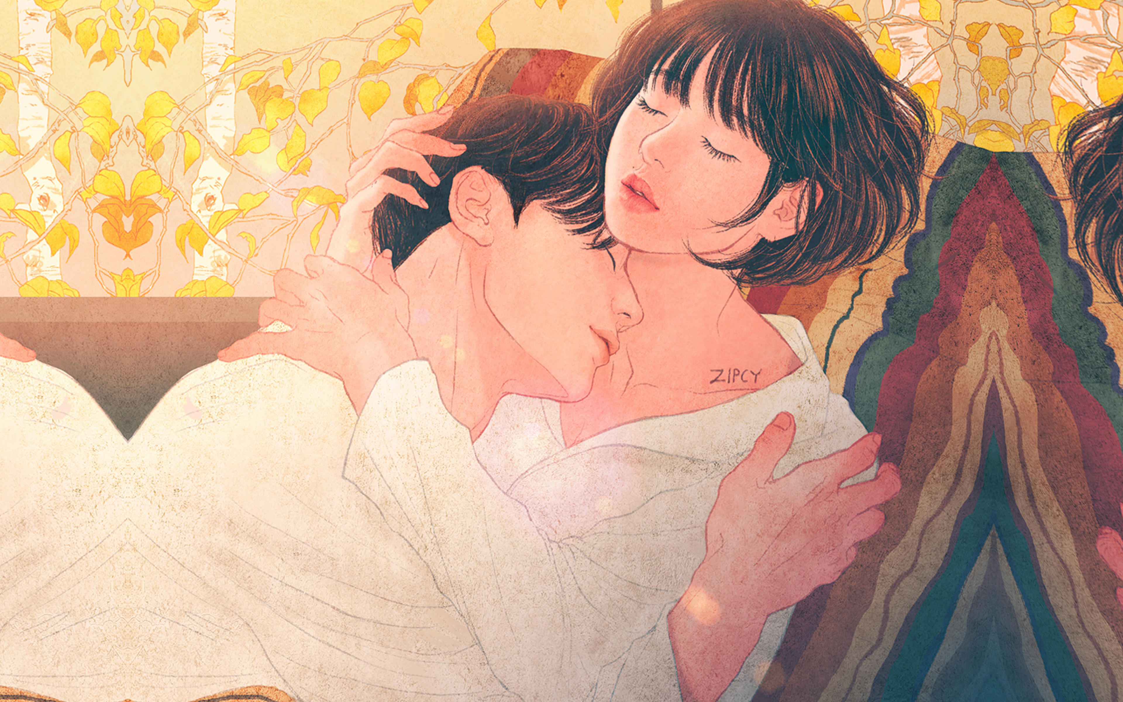 I Love Papers Be01 Zipcy Love Couple Art Illustration Anime
