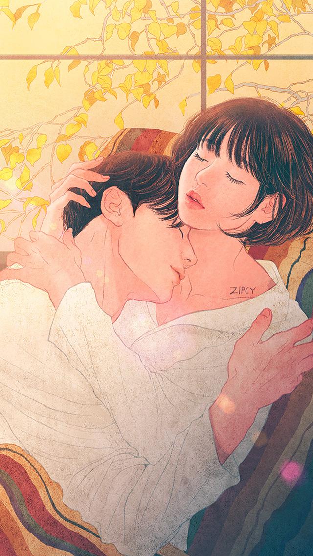 freeios8.com-iphone-4-5-6-plus-ipad-ios8-be01-zipcy-love-couple-art-illustration-anime