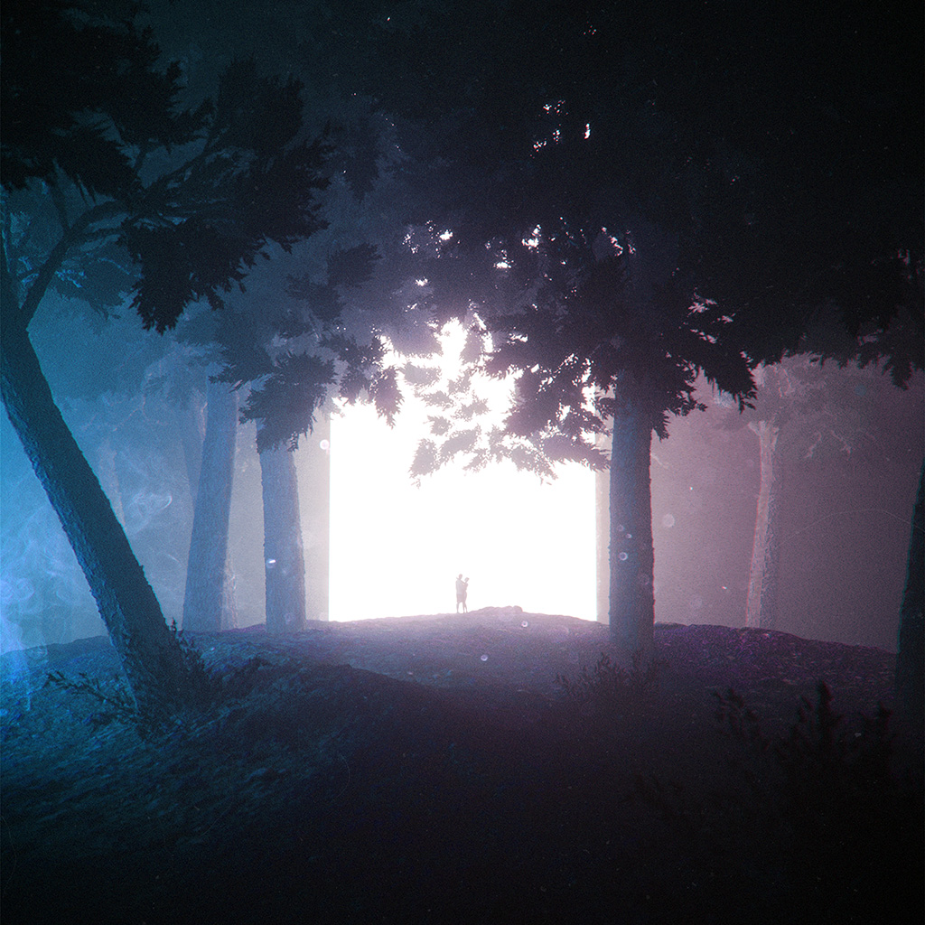 wallpaper-be07-stuart-space-tree-couple-fantasy-art-illustration-blue-wallpaper