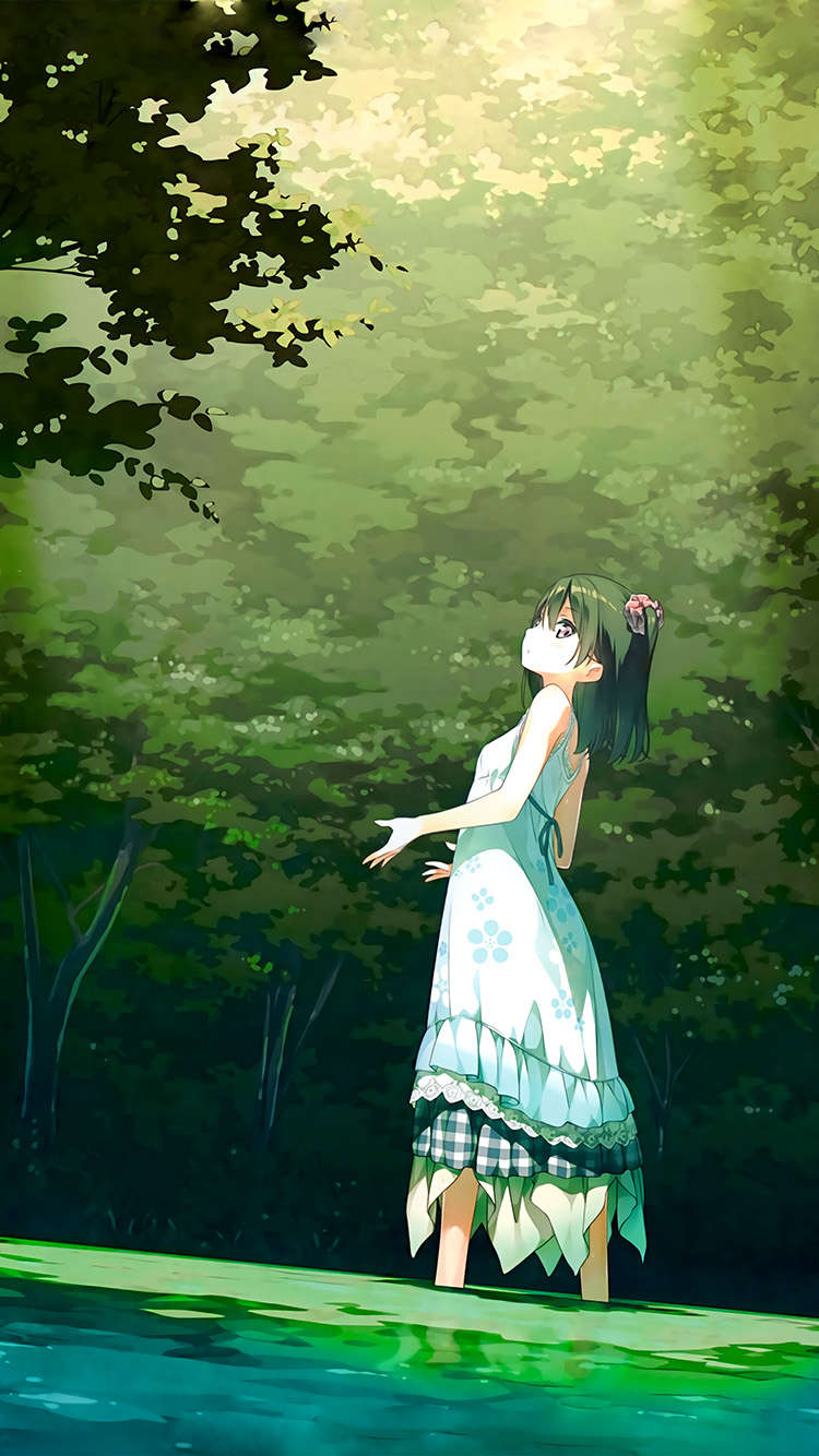 Papers.co-iPhone5-iphone6-plus-wallpaper-be21-anime-girl-green-art-illustration