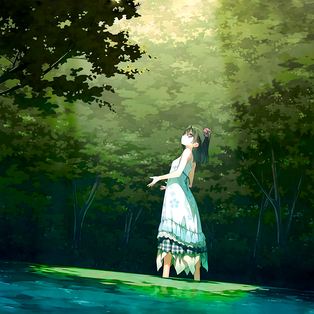 wallpaper-be21-anime-girl-green-art-illustration-wallpaper