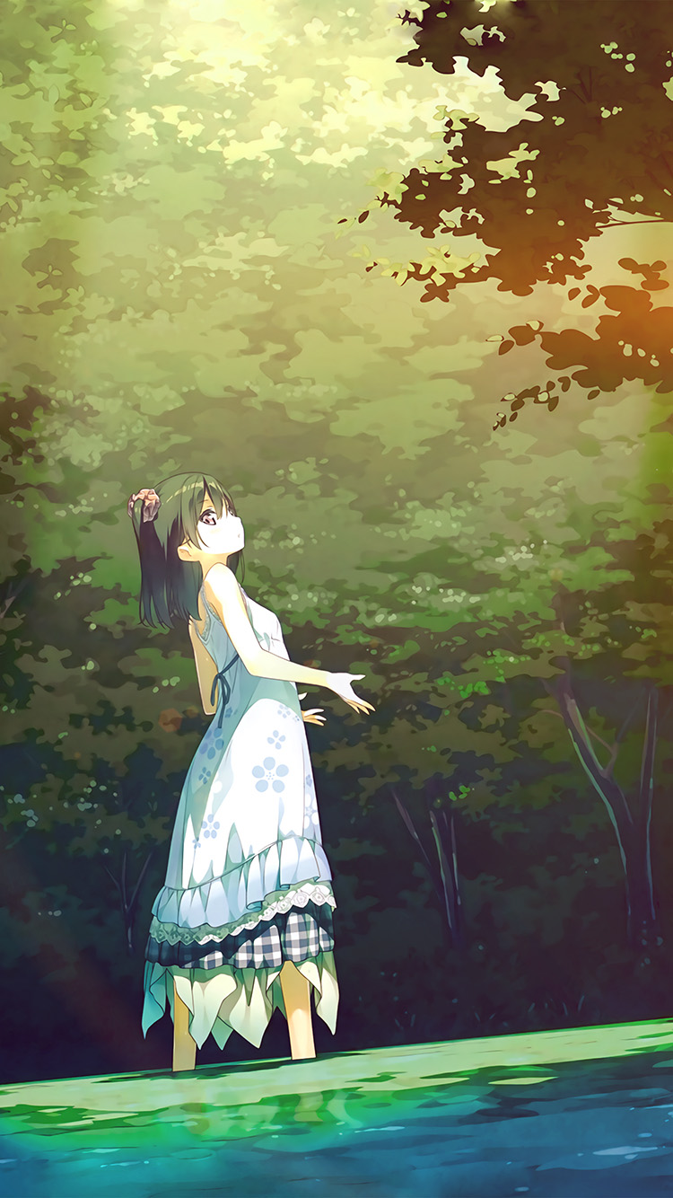 Papers.co-iPhone5-iphone6-plus-wallpaper-be22-anime-girl-green-art-illustration-flare
