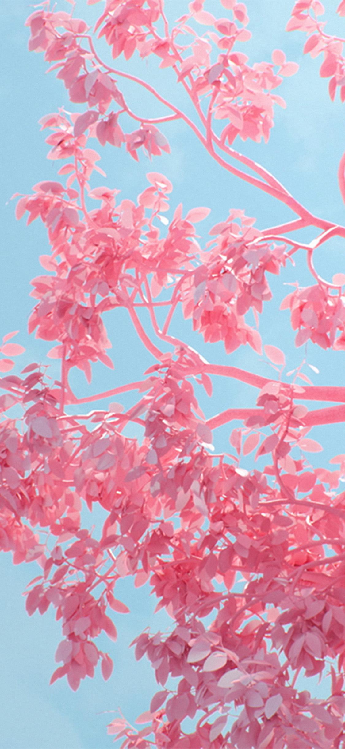 iPhonexpapers.com-Apple-iPhone-wallpaper-be25-tree-pink-spring-digital-art-illustration