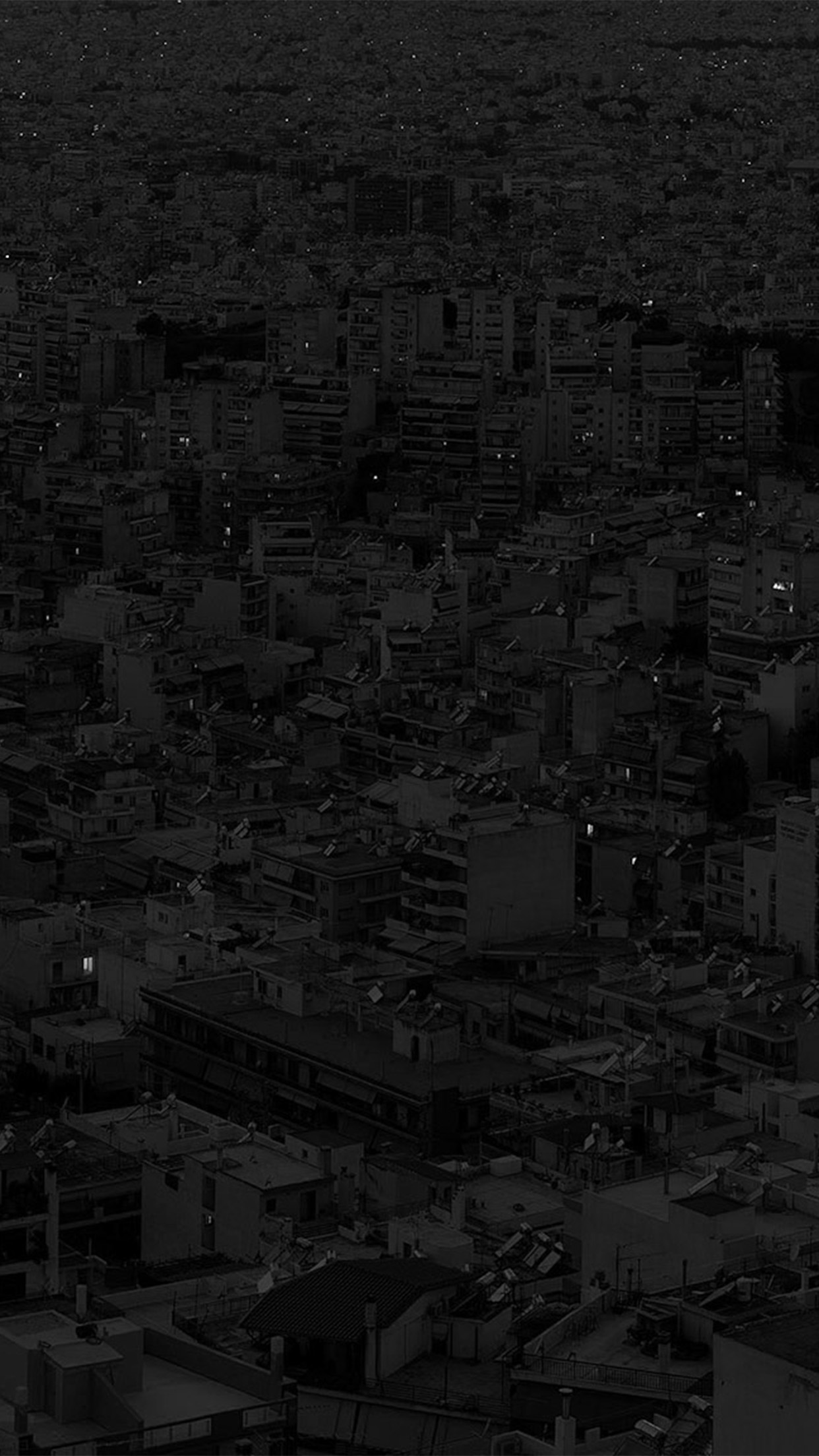 papers.co be38 dark city night art illustration bw 34 iphone6 plus wallpaper