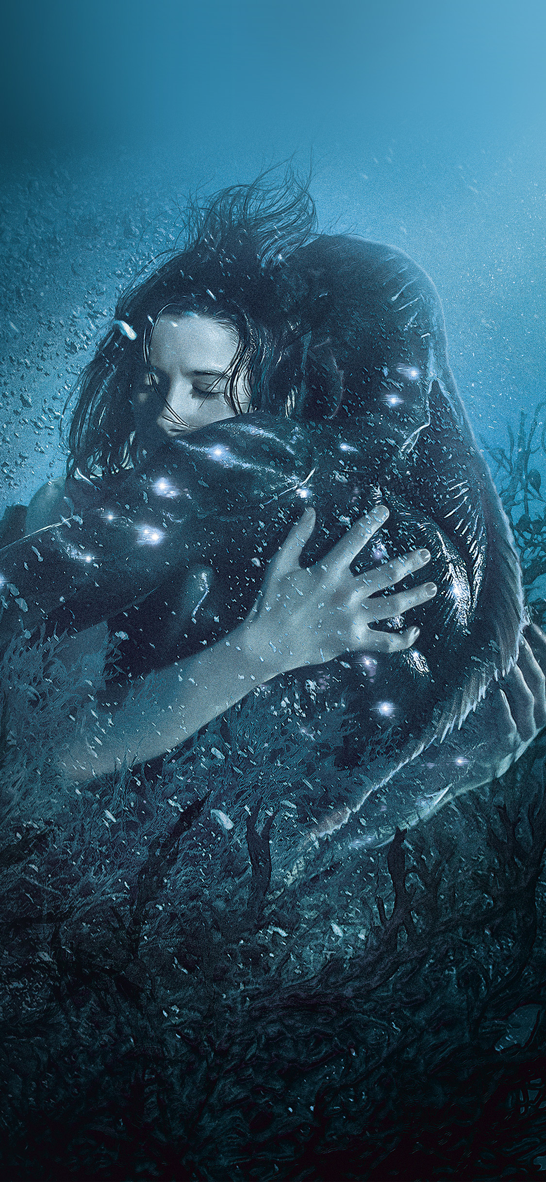 Be40 shape of water film movie blue art illustration wallpaper - Classic art wallpaper iphone 5 ...