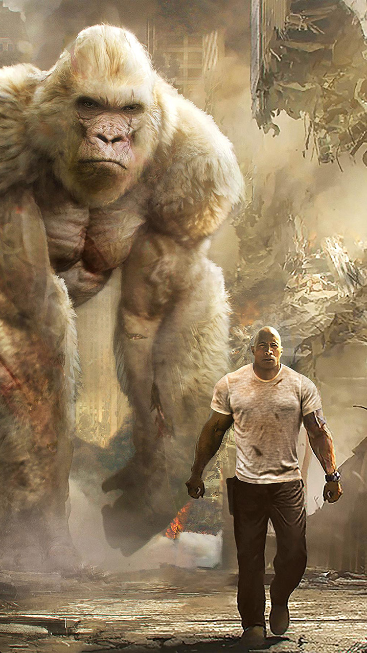 be43-rampage-dwayne-johnson-film-art-illustration-wallpaper