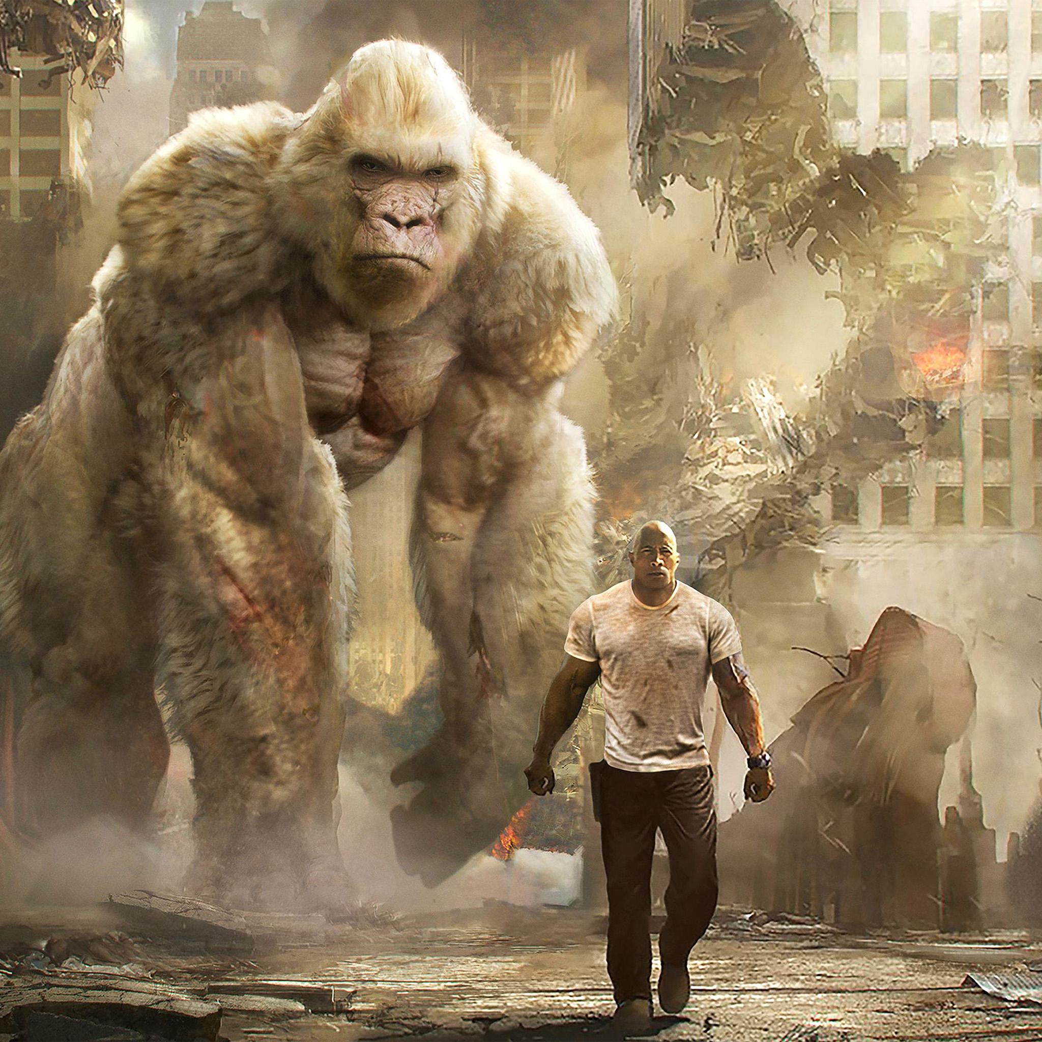 be43-rampage-dwayne-johnson-film-art-illustration-wallpaper