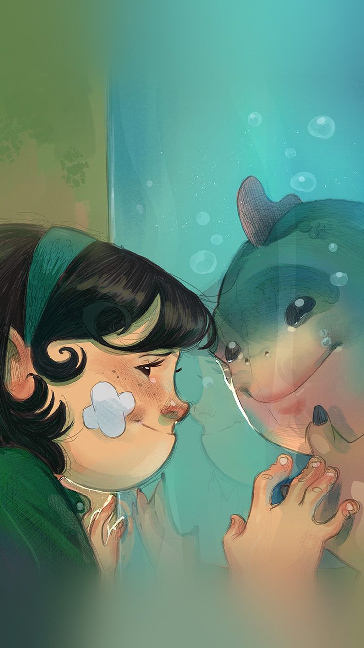 Papers.co-iPhone5-iphone6-plus-wallpaper-be44-rafael-sam-shape-of-water-anime-art-illustration