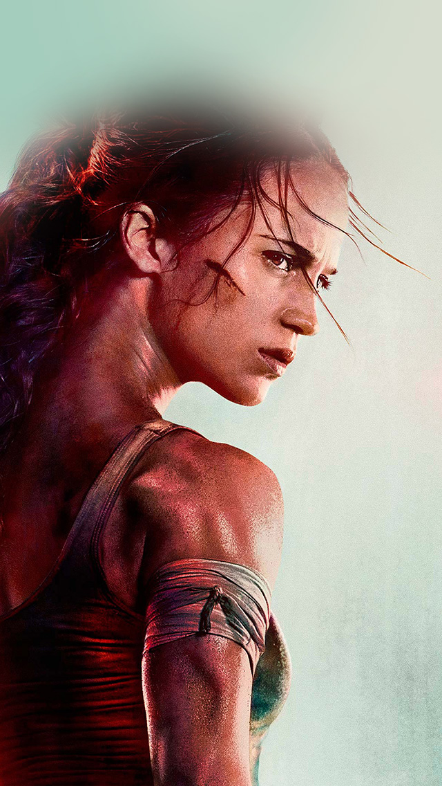 freeios8.com-iphone-4-5-6-plus-ipad-ios8-be46-lara-croft-tomb-raider-film-art-illustration
