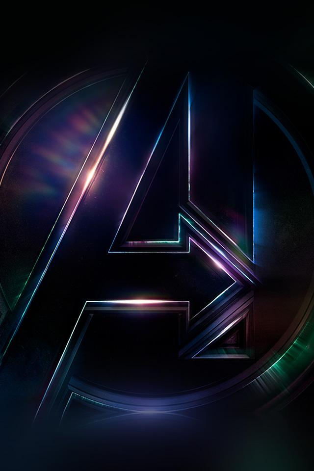 Be49 Avengers Logo Dark Film Art Illustration Marvel Wallpaper
