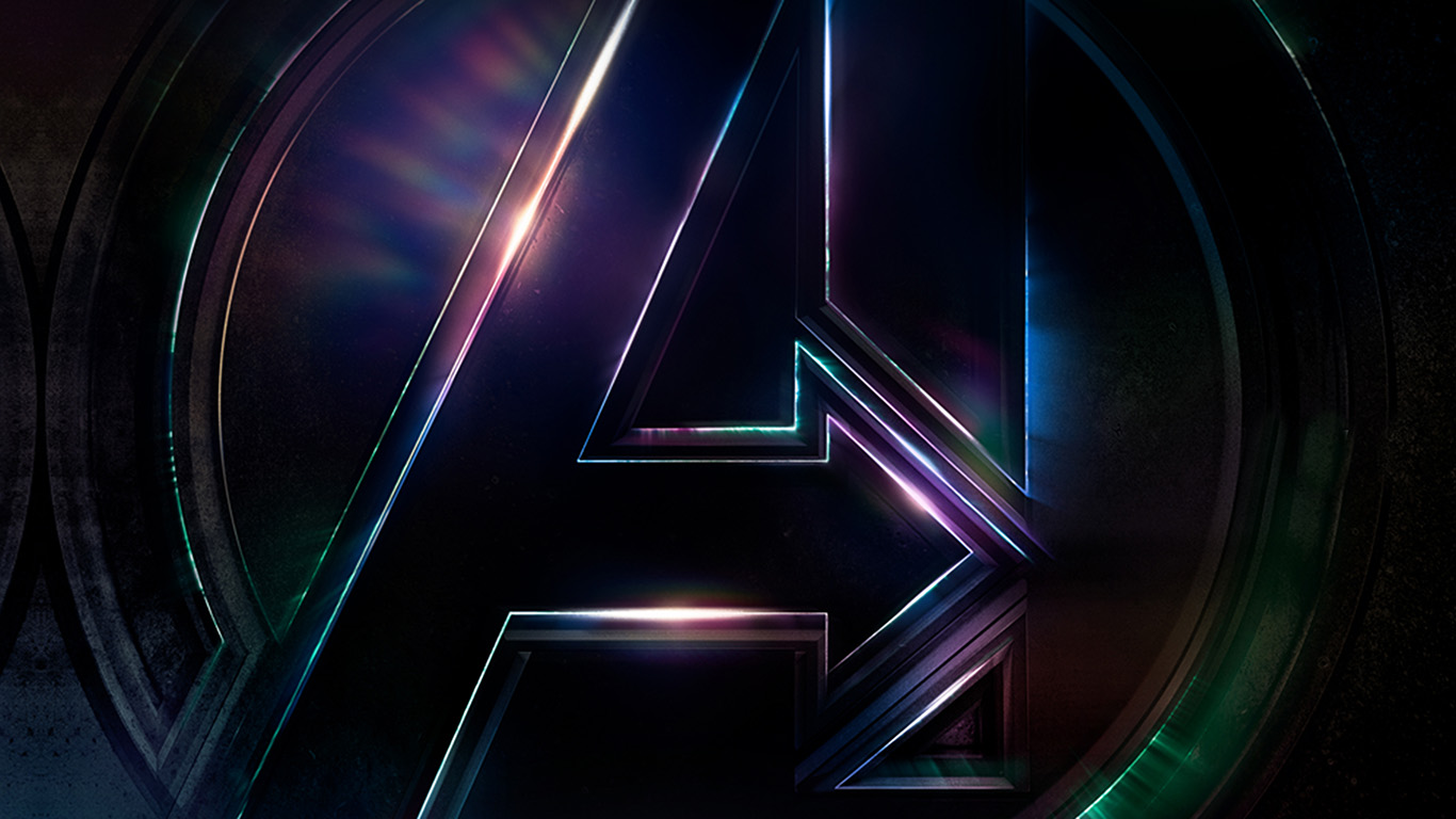 Wallpaper For Desktop Laptop Be49 Avengers Logo Dark Film Art Illustration Marvel