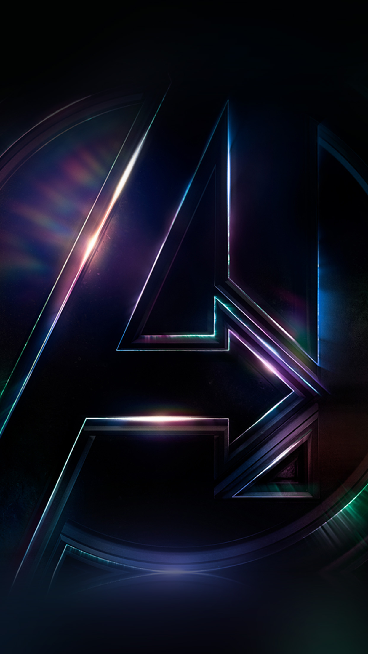 Be49 Avengers Logo Dark Film Art Illustration Marvel Wallpaper