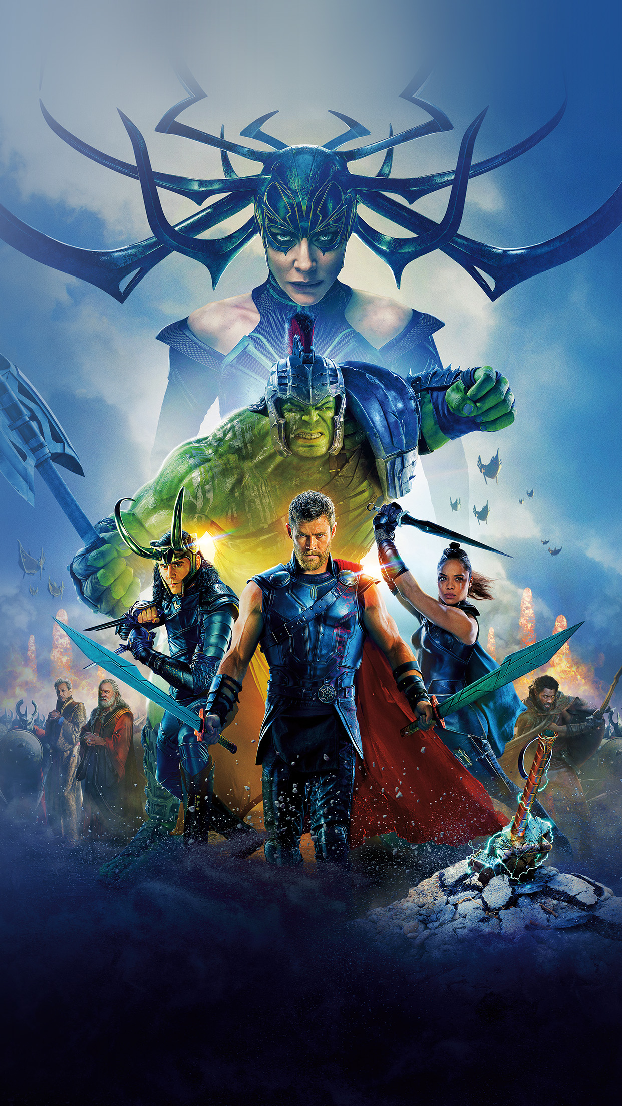 Be50 thor ragnarok film marvel art illustration wallpaper - Thor art wallpaper ...