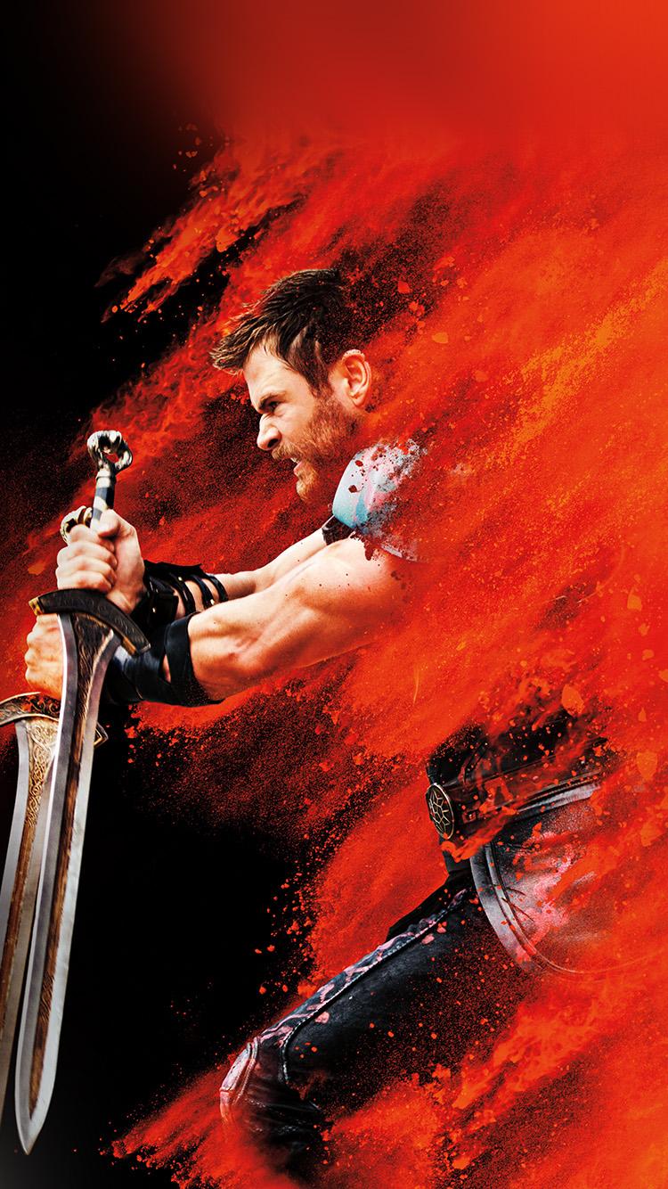 Be53 Thor Ragnarok Red Film Marvel Hero Art Illustration