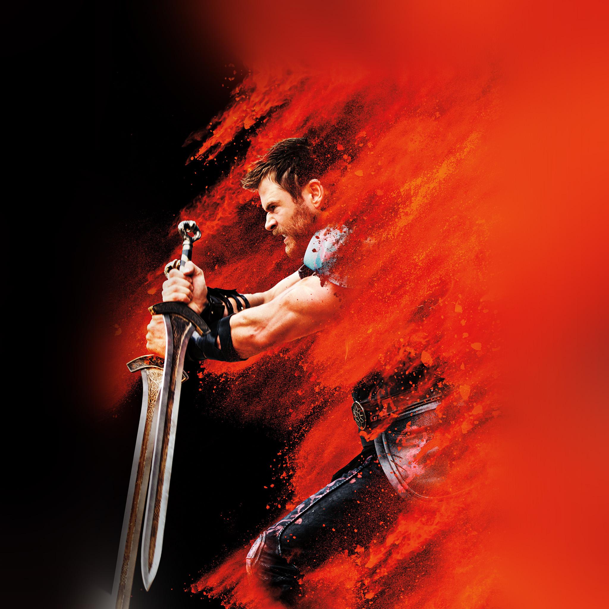 Be53 thor ragnarok red film marvel hero art illustration - Marvel android wallpaper hd ...