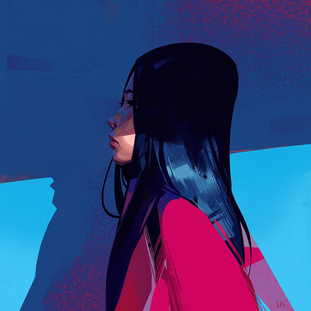 wallpaper-be65-painting-face-girl-art-illustration-wallpaper
