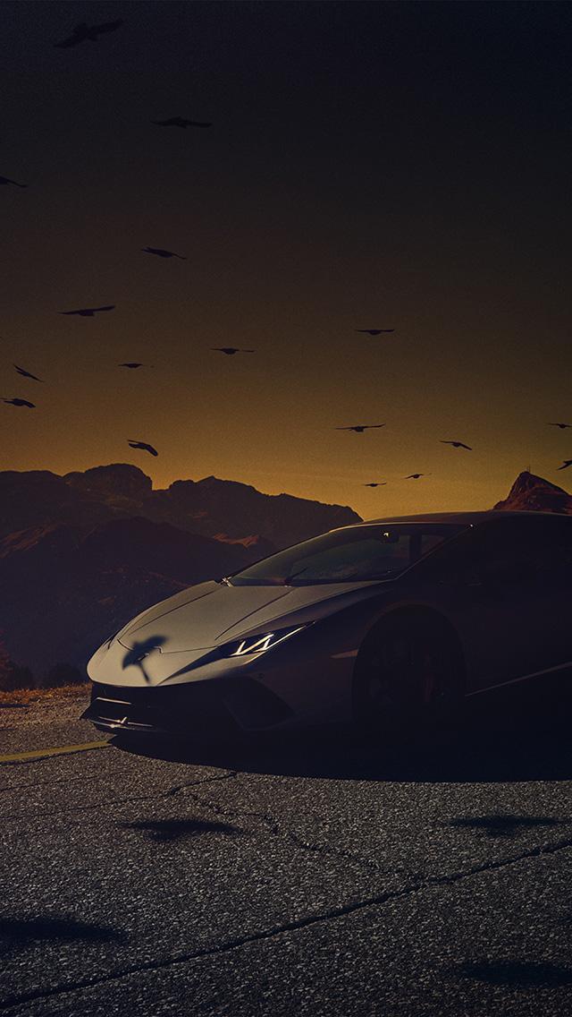 Freeios8 Com Iphone Wallpaper Be73 Car Lamborghini Dark Sunset