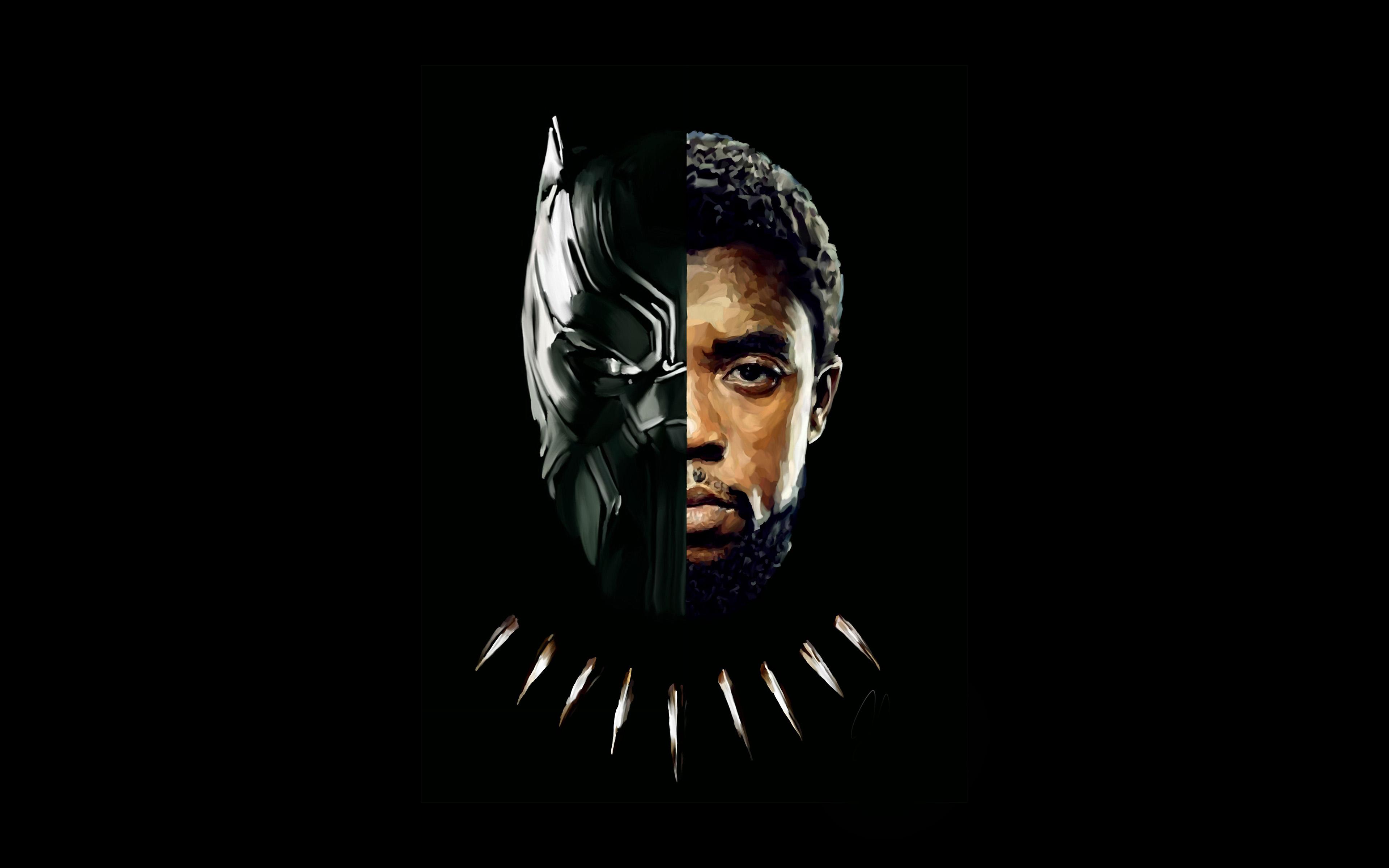 Be75 Hero Avengers Black Panther Art Illustration Wallpaper