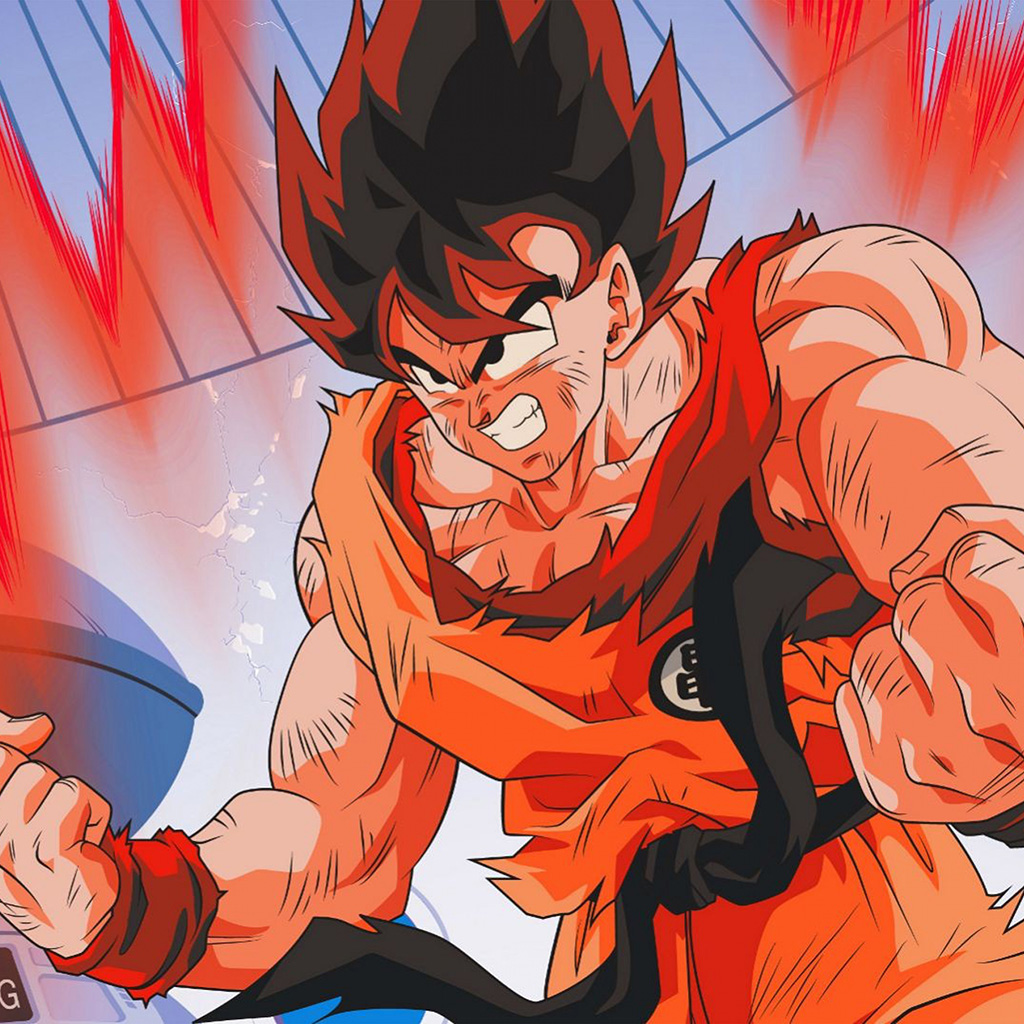 wallpaper-be81-dragonball-red-cyan-art-illustration-anime-hero-wallpaper