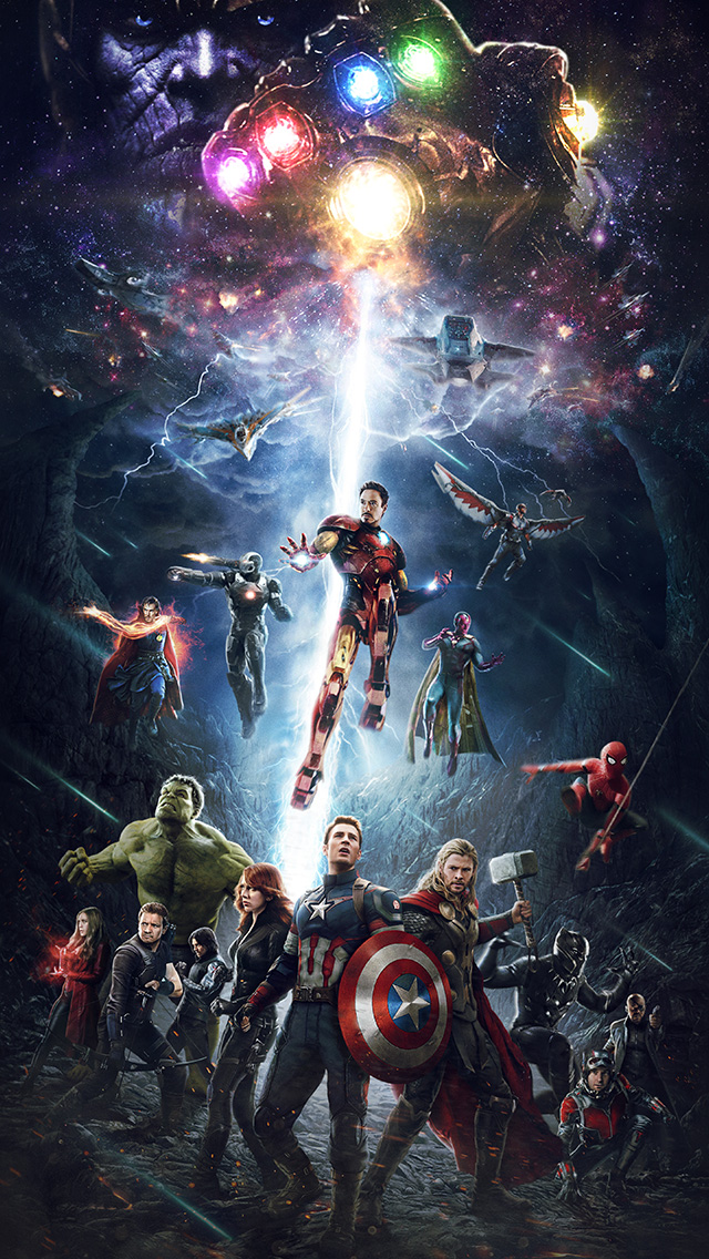 freeios8.com-iphone-4-5-6-plus-ipad-ios8-be83-marvel-infinitywar-avengers-hero-art