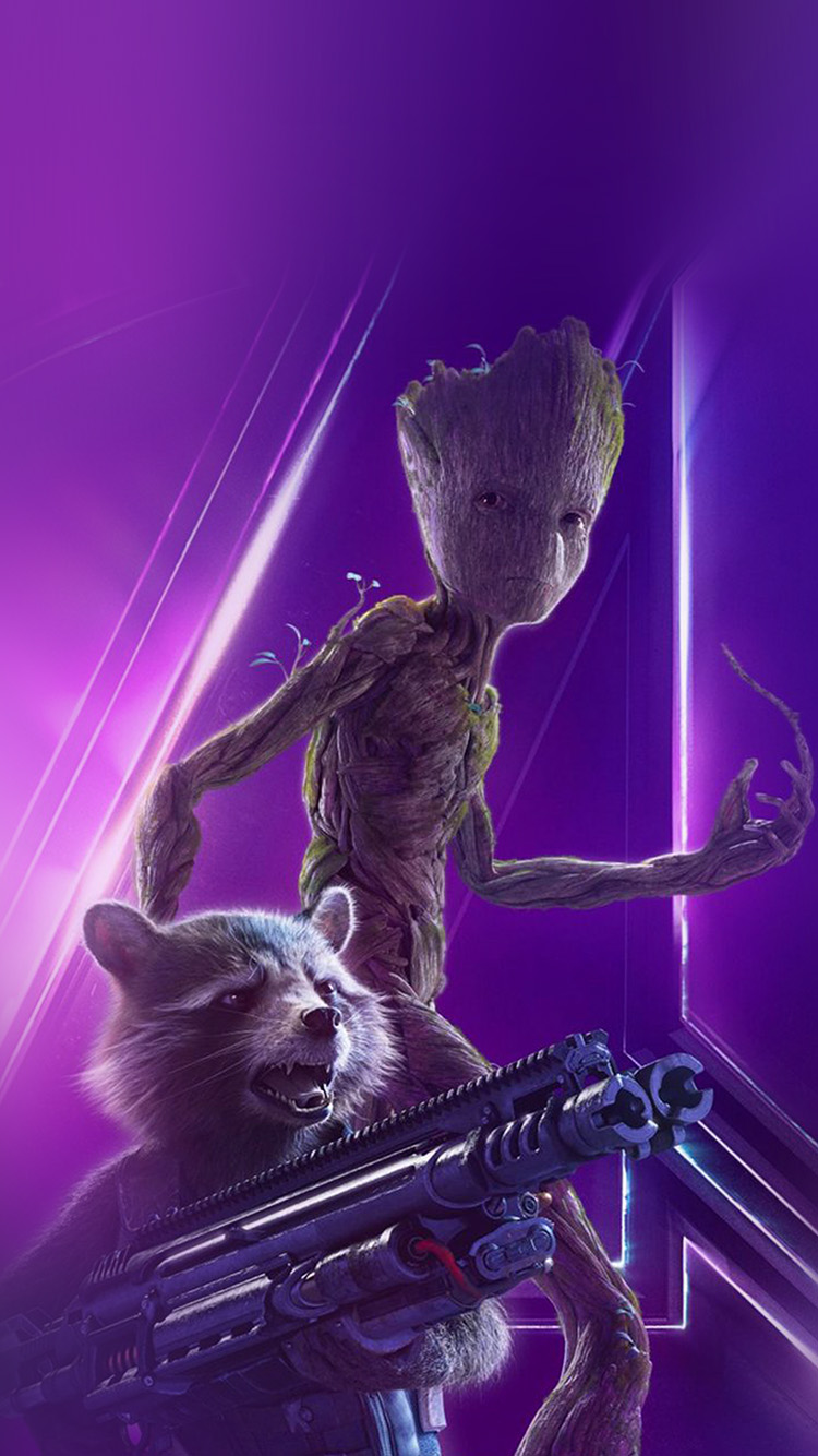 iPhonepapers.com-Apple-iPhone-wallpaper-be87-groot-rocket-marvel-hero-film-avengers-art