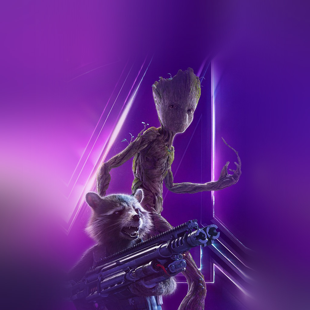 wallpaper-be87-groot-rocket-marvel-hero-film-avengers-art-wallpaper