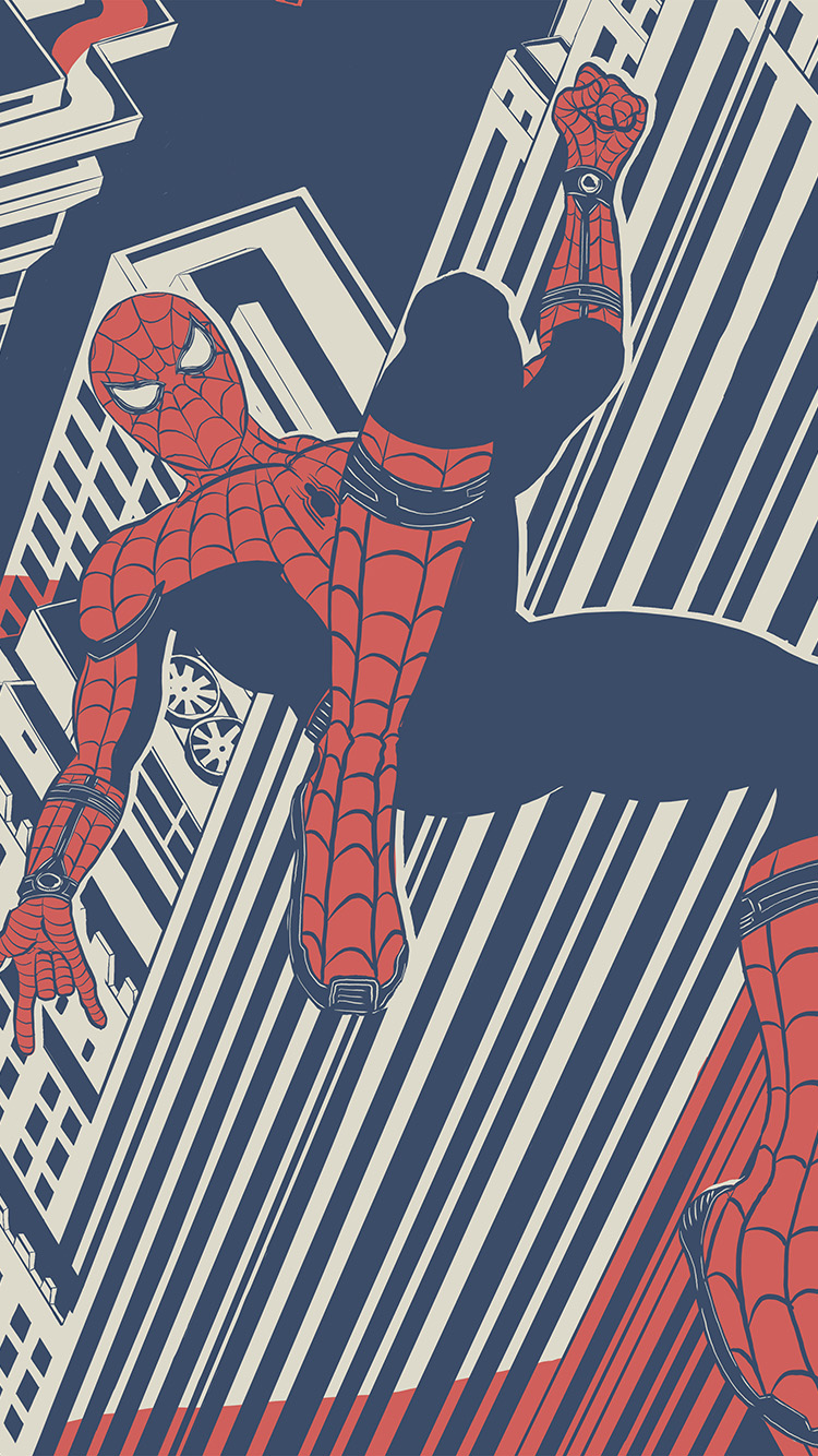 Papers.co-iPhone5-iphone6-plus-wallpaper-bf29-spiderman-hero-painting-marvel-art