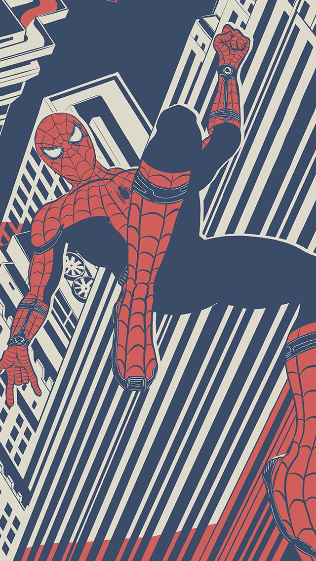freeios8.com-iphone-4-5-6-plus-ipad-ios8-bf29-spiderman-hero-painting-marvel-art