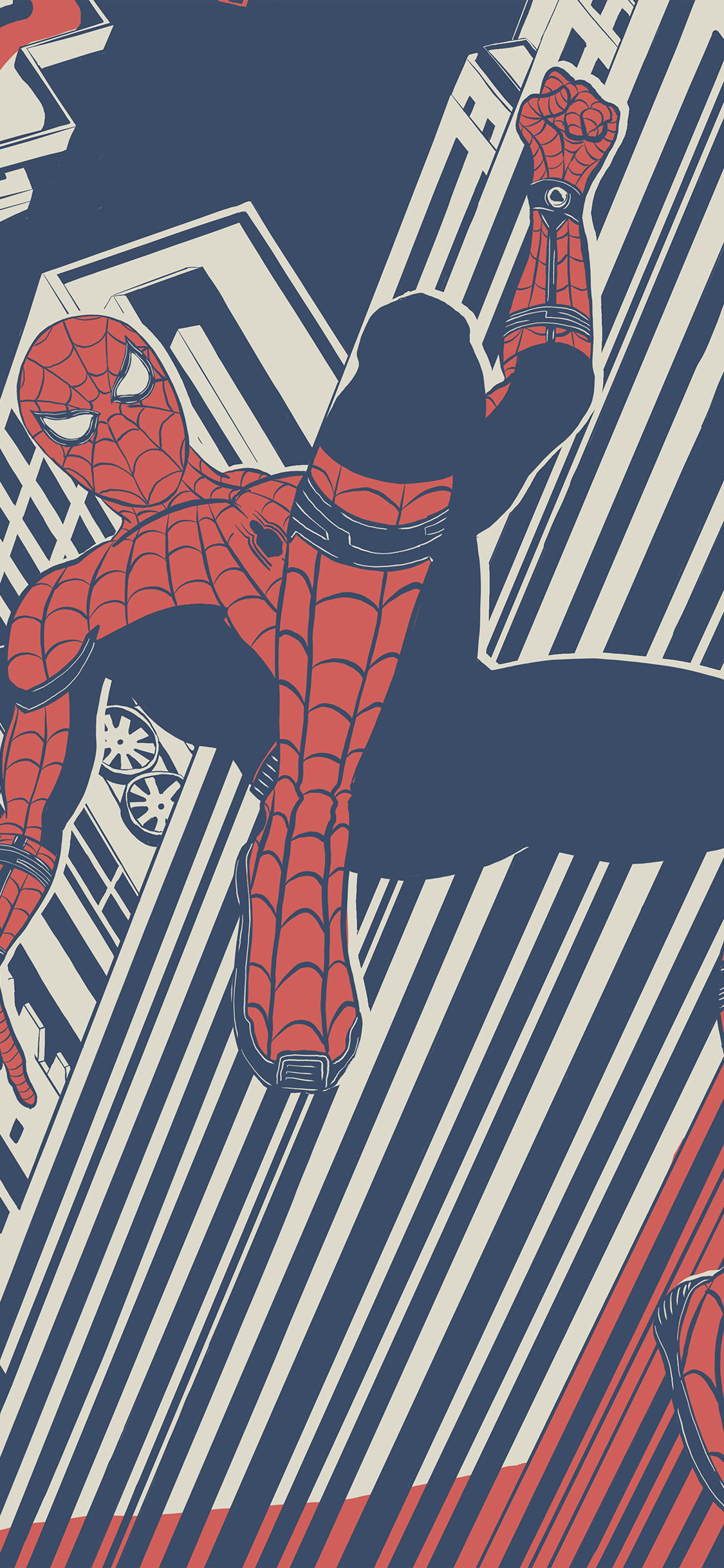 iPhonexpapers.com-Apple-iPhone-wallpaper-bf29-spiderman-hero-painting-marvel-art