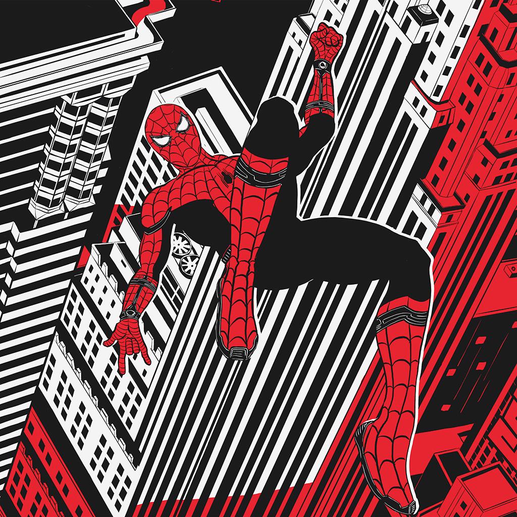 android-wallpaper-bf30-spiderman-hero-painting-marvel-art-black-wallpaper