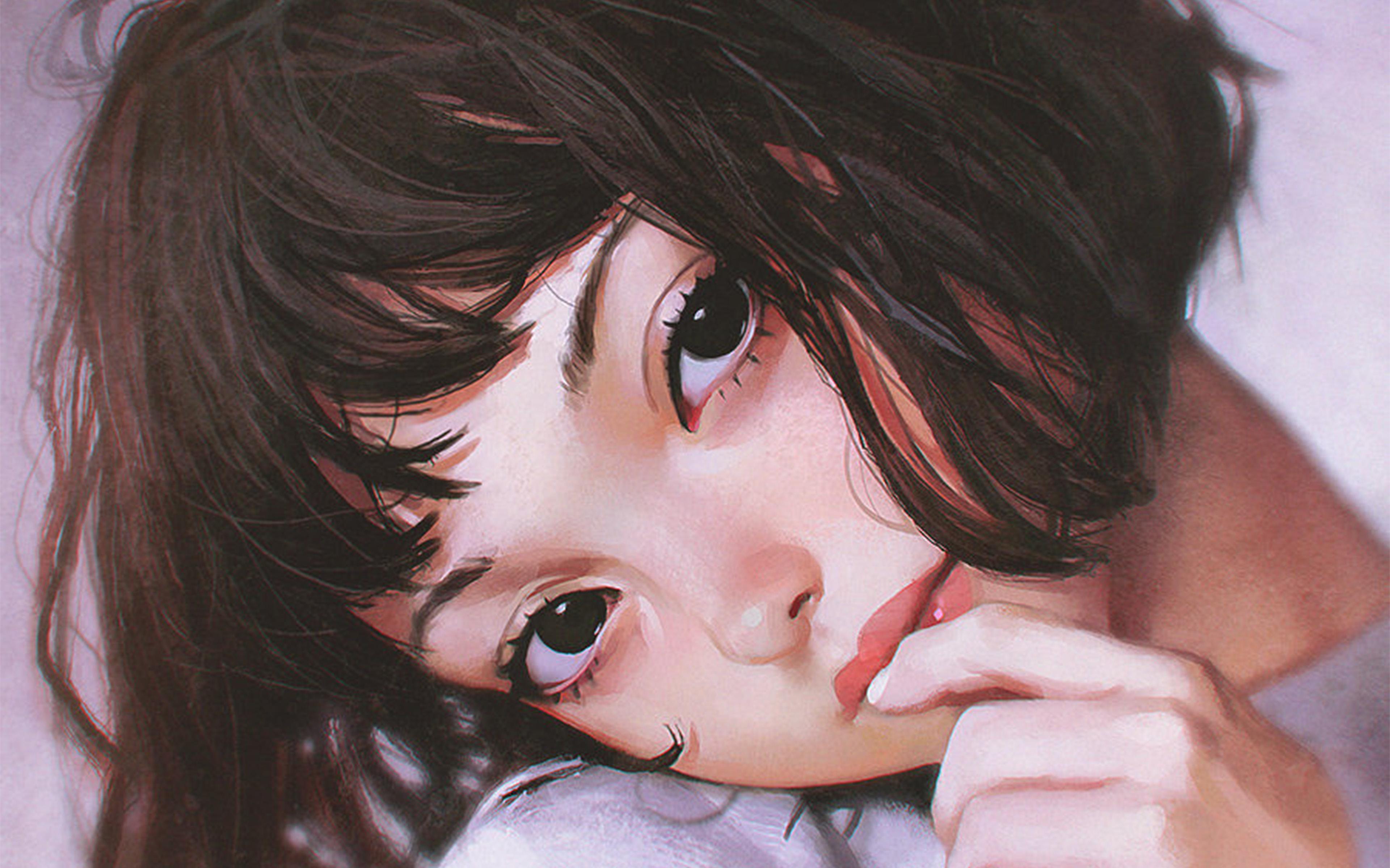 bf31-ilya-face-anime-girl-art-wallpaper