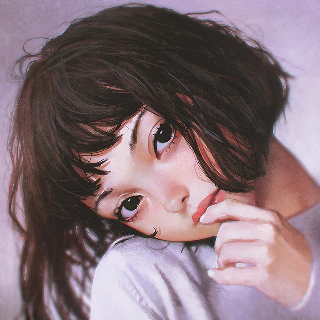 wallpaper-bf31-ilya-face-anime-girl-art-wallpaper