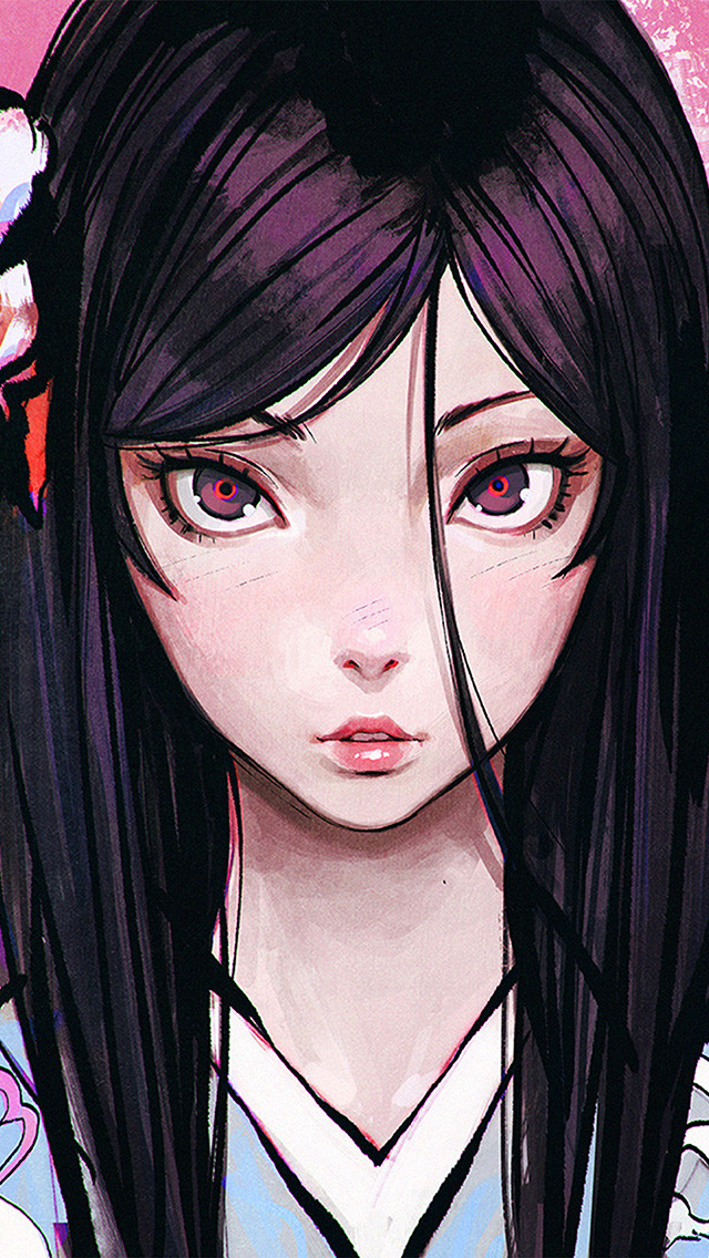 freeios8.com-iphone-4-5-6-plus-ipad-ios8-bf33-eye-girl-anime-illustration-eye-drawing-art