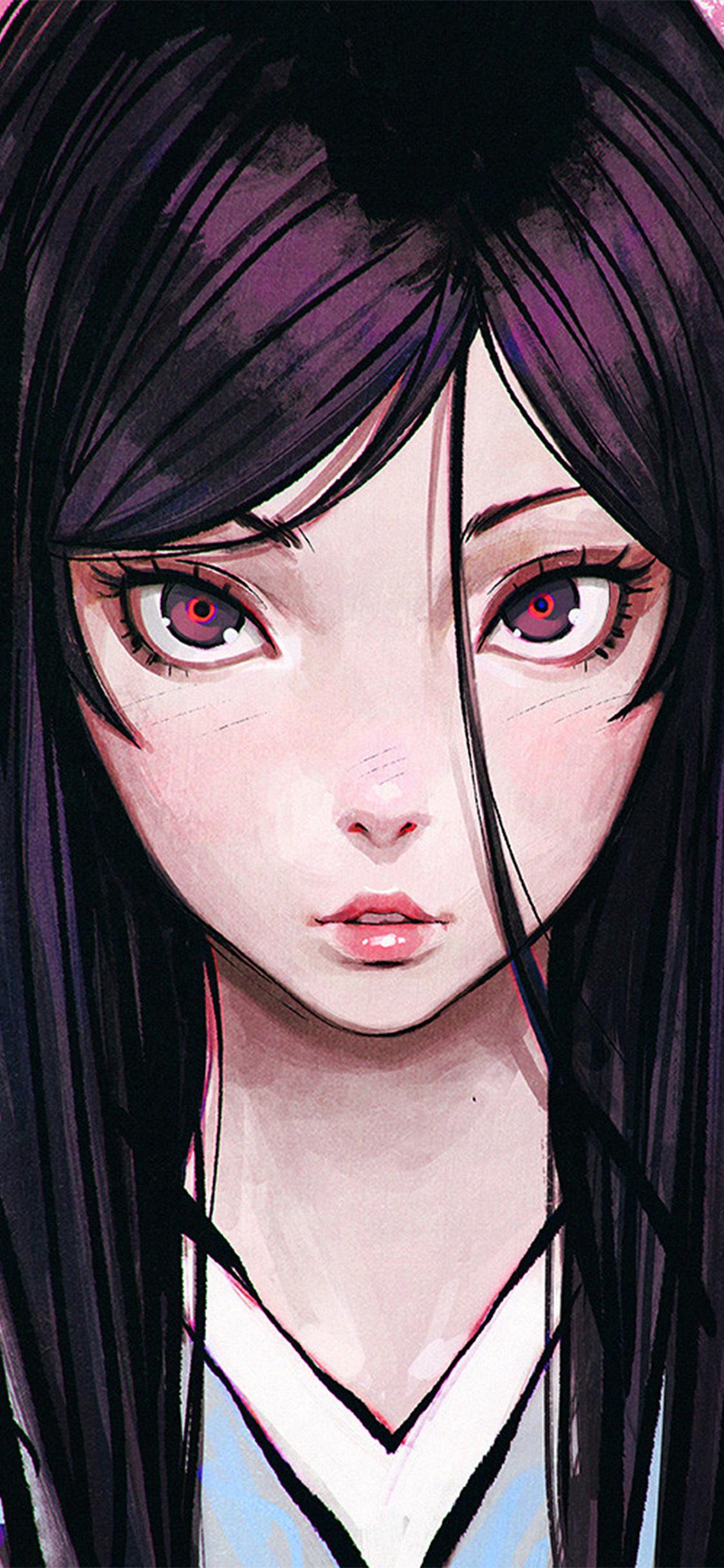 iPhonexpapers.com-Apple-iPhone-wallpaper-bf33-eye-girl-anime-illustration-eye-drawing-art