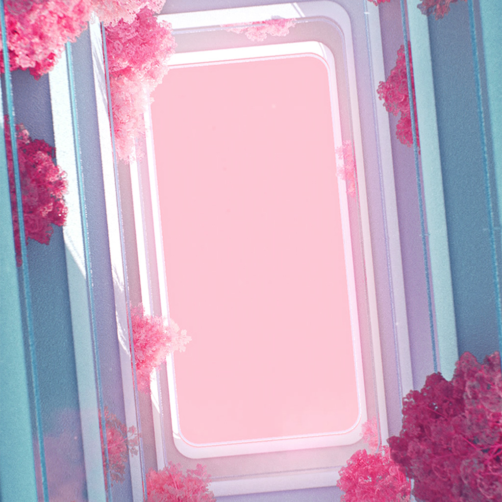 wallpaper-bf44-architecture-minimal-simple-flower-pink-art-red-wallpaper