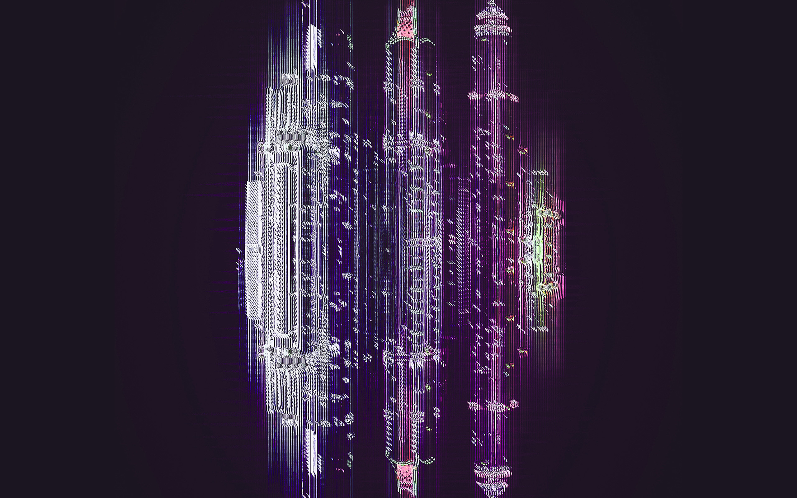 Bf53 City Digital Abstract Minimal Simple Art Purple Wallpaper