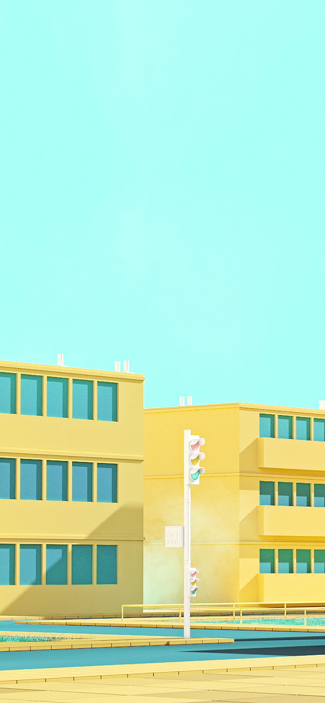 iPhonexpapers.com-Apple-iPhone-wallpaper-bf54-school-anime-illust-yellow-minimal-simple-art